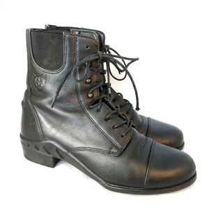 Ariat black leather Heritage Paddock lace up boot